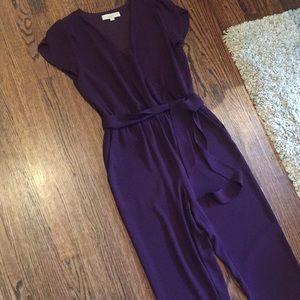 Deep purple jumpsuit from LOFT